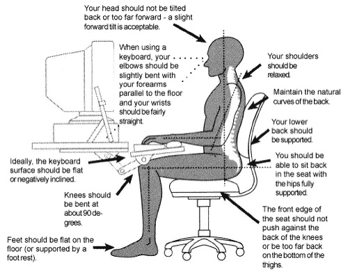 Ergonomics Helping Posture in the Workplace
