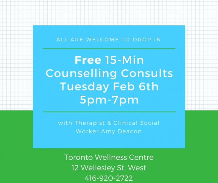 Feb 6th Drop In Counselling Consults